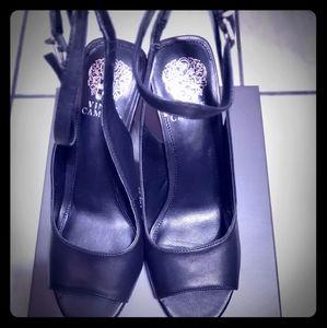 Vince Camuto Women's Reteema Heeled Sandal, Black